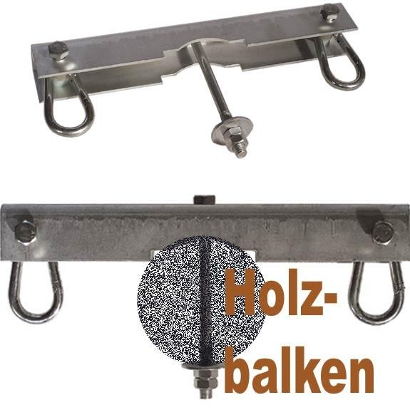 Doppelsitzhaken für Rund- und Kantholzbalken