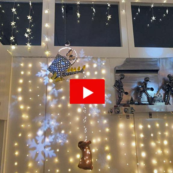 APESA Weihnachtsbeleuchtung Eingang Der erste Eindruck zählt