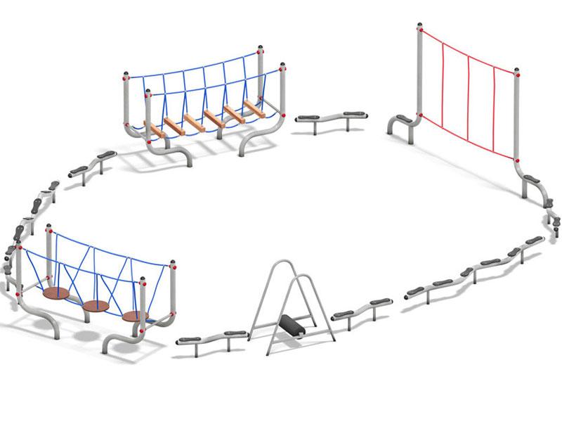 Fun-Run Balanciergeräte aus Metall Balancier-Parcoure fördern das Balancieren
