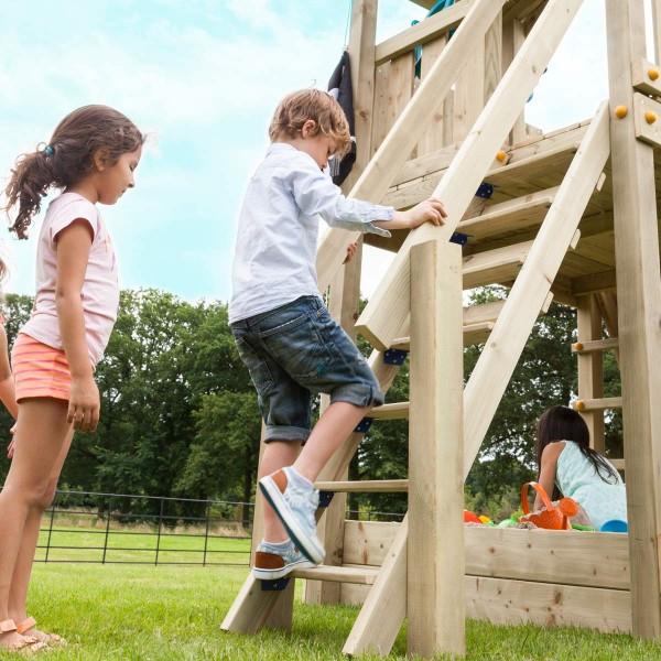 Treppe für Podesthöhe 150 cm für Montage an Spielgeräte