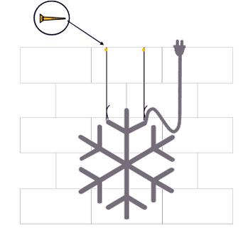 3. Schritt Drahtseil fixieren, Strom anschliessen