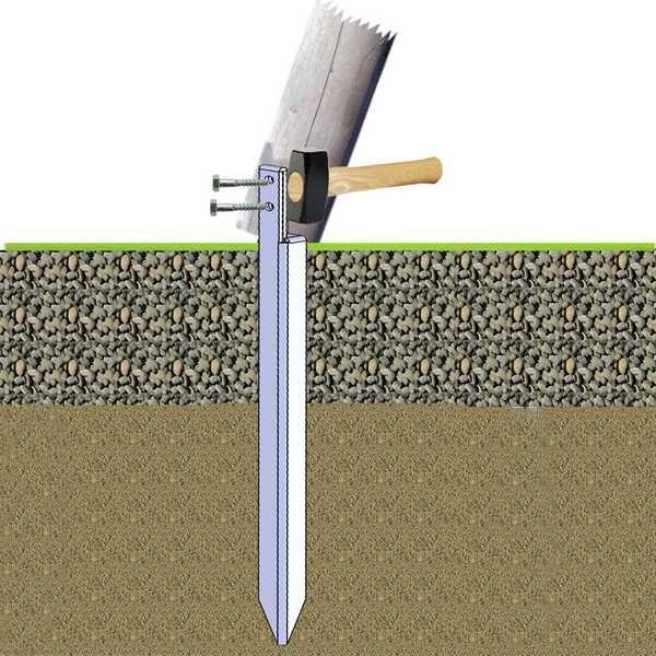 Bodenverankerung 54 cm, 1 Stück Einschlagtiefe 46cm, für Spielgeräte, Sandkästen