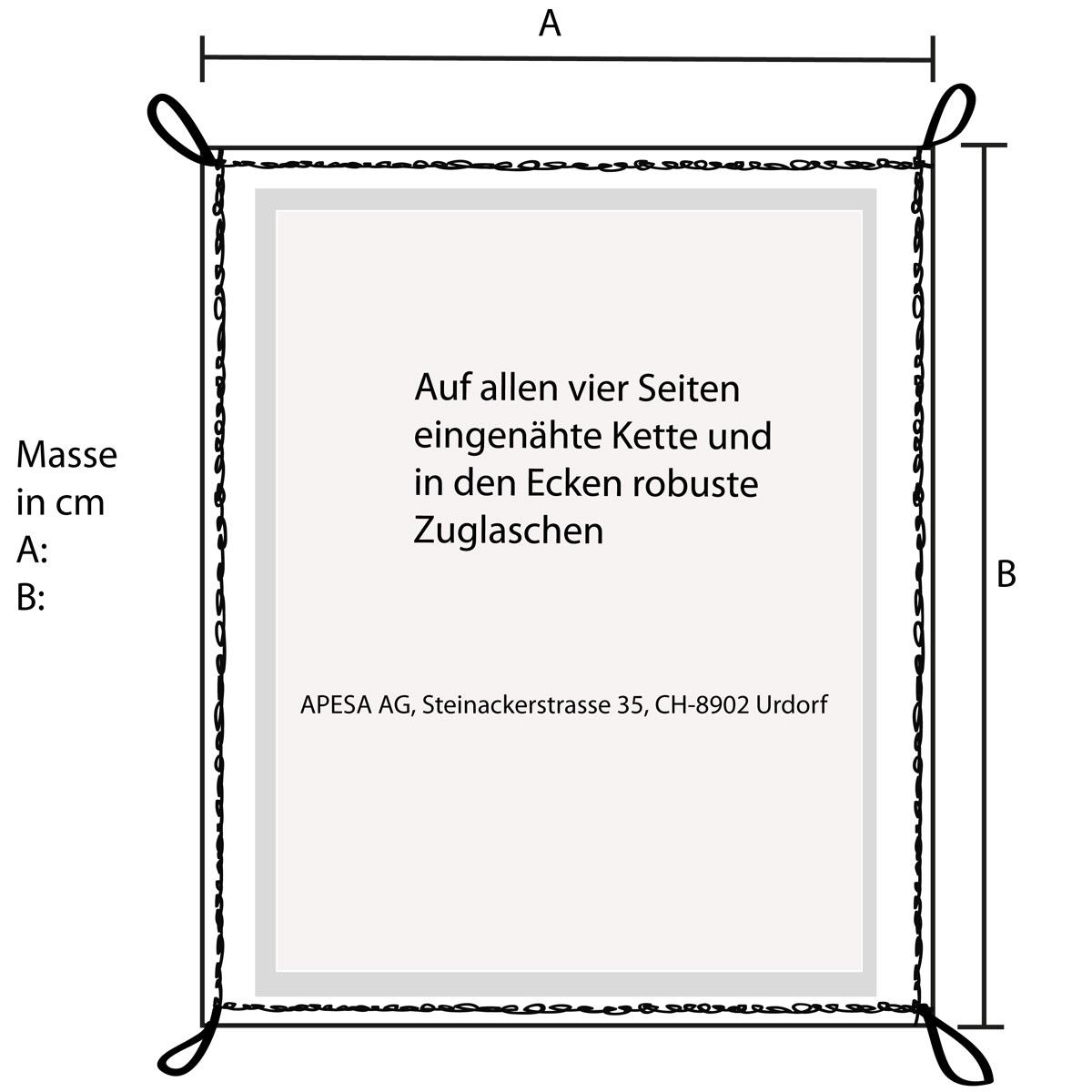 APESA Porfi-Sandkasten-Abdeckung mit Ketten und Zuglaschen