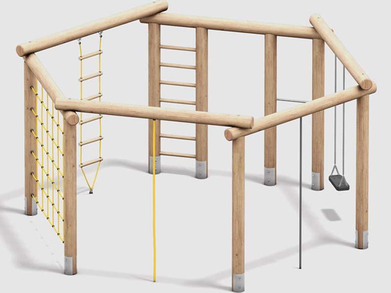 Klettergeräte sorgen für Bewegung der Kinder