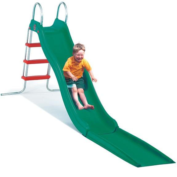Rutschbahn Crazy mit Welle und Treppe grün 243 cm