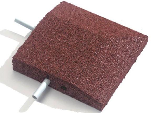 Keilrand-Eckelement 25x25x4.5cm rot mit 2 Befestigungsstiften