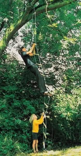 Strickleiter mit 15 Holzsprossen 458 cm, Swissmade