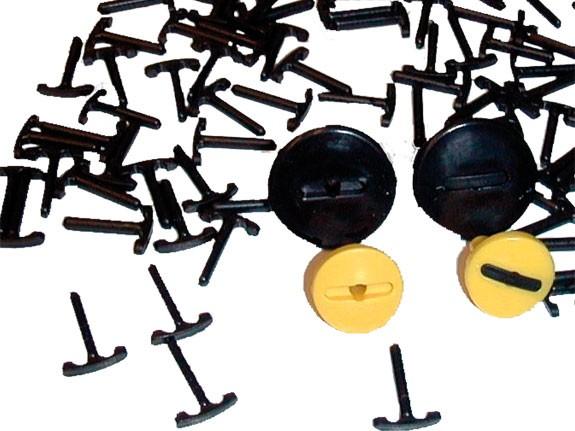 MoveAndStic Sicherungen für Abdeckung Schlitze der Rohr- und Plattensicherungen, 100 Stück