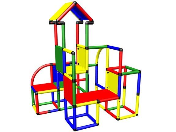 MoveAndStic M2012A Kletterturm mit Spielplattform für kleinere Kinder