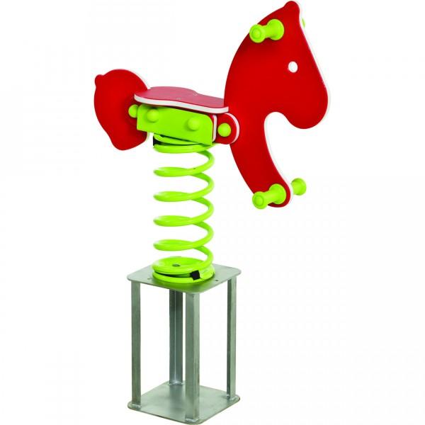Federwipptier schönes wippen auf dem Pony Federspielgerät
