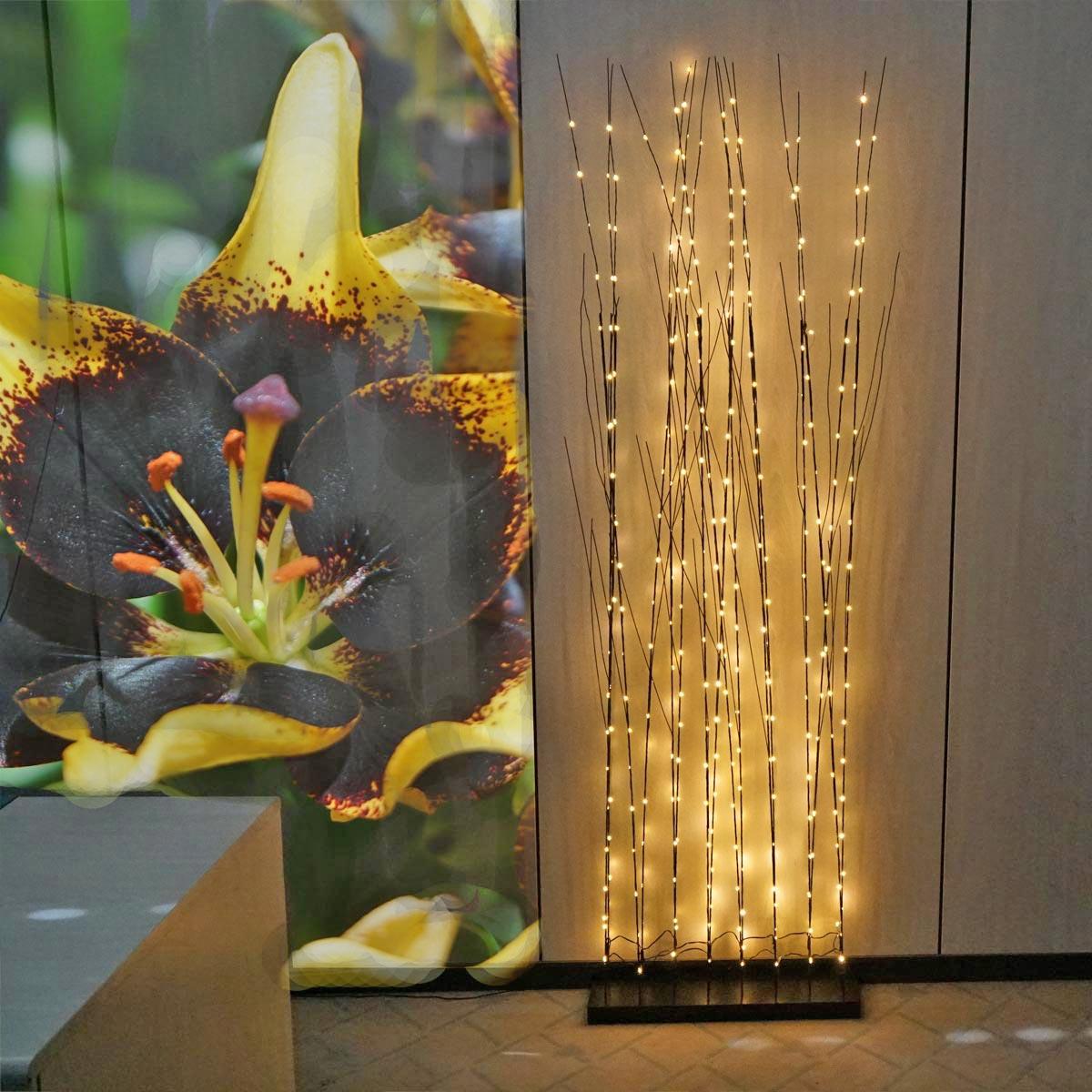 LED Weidendekoration pefekt mit Bildern dekorieren