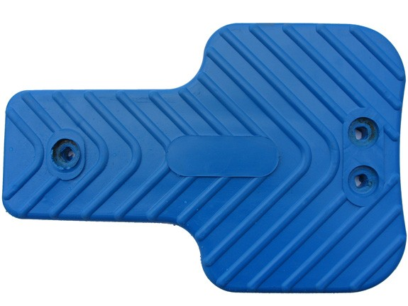 Wippen-Sitzbank blau aus Sicherheitsgummi