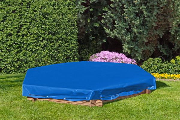 Sandkastenabdeckung blau 6-eckige für Sandkasten 124.10.DE67054