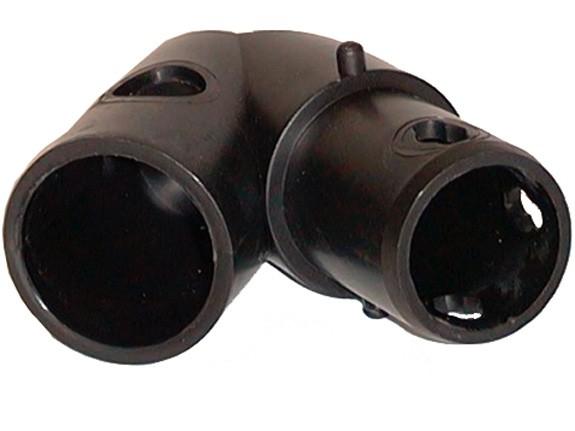 MoveAndStic Flächenkupplung 2-armig, Winkelkupplung 45°, Dachkante, schwarz