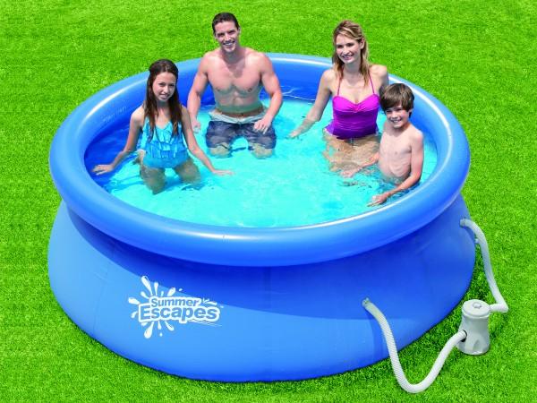 Quick Up Pool mit aufblasbarem Rand, Durchmesser 274, Höhe 66 cm