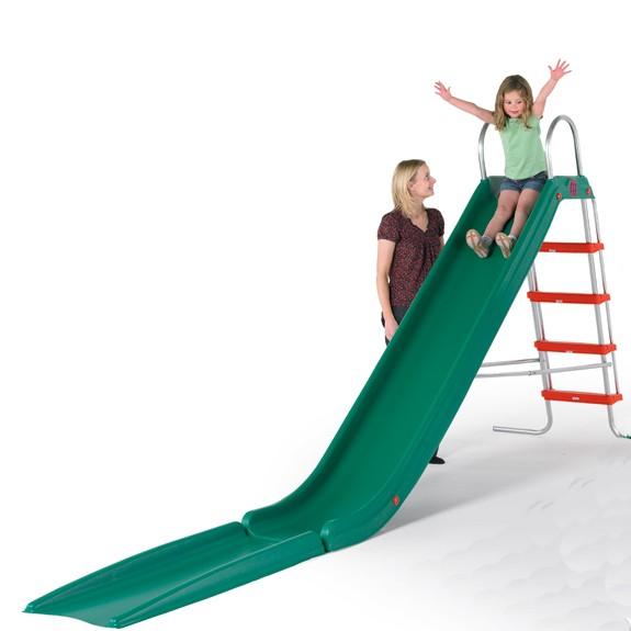 Rutschbahn Rapide gerade mit Treppe grün 300 cm