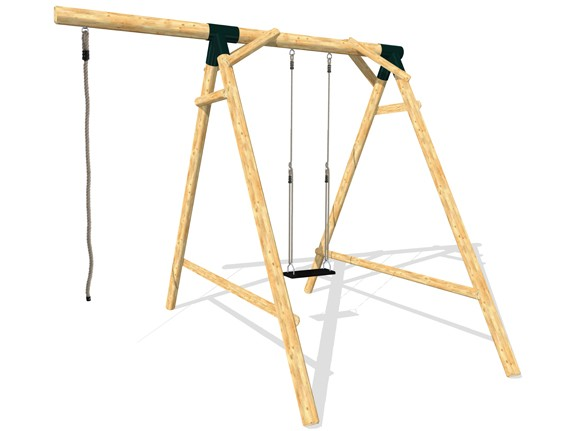 Schaukel APESA Lärchenholz 1 Platz, Verlängerungsarm und Seil, ohne Sitz