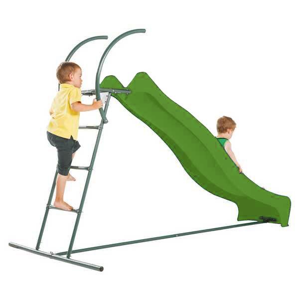 Rutschbahn mit Welle und Treppe apfelgrün 244 cm