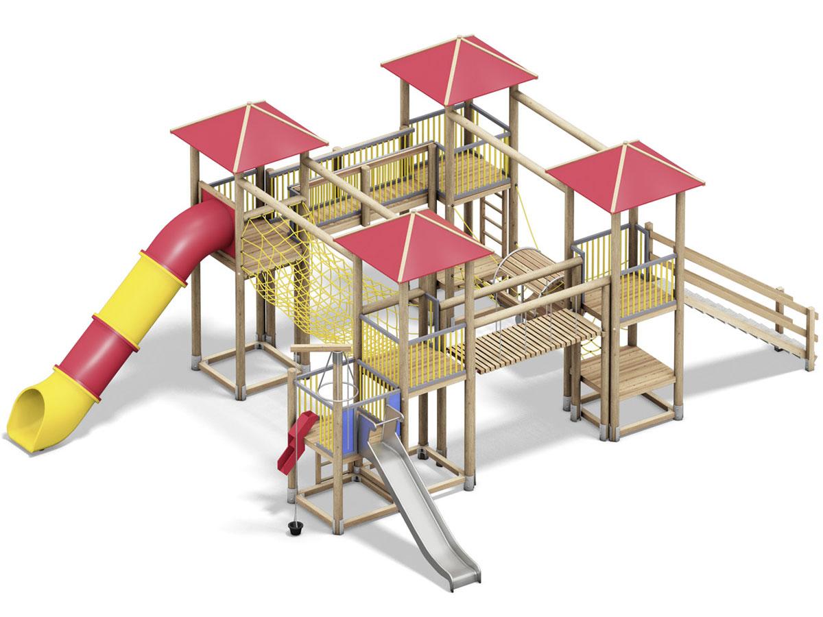 Tunnelrutsche perfekt für den Spielplatz