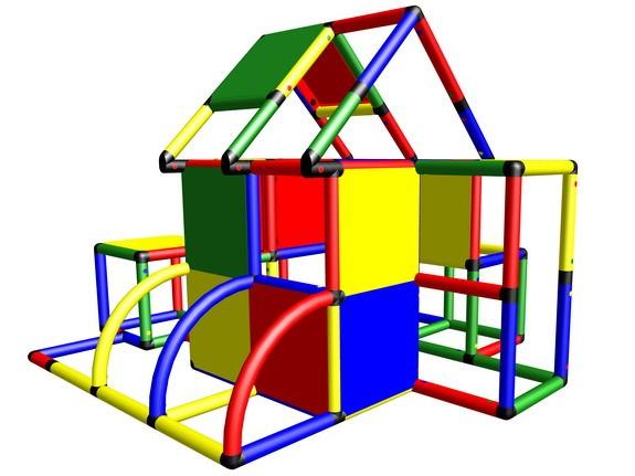 MoveAndStic M2007A Spielhaus mit Klettermöglichkeiten