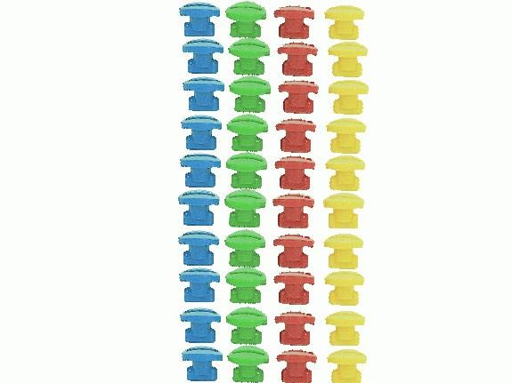 MoveAndStic Sicherungen für Rohre, 40 Rohrsicherungen, bunt