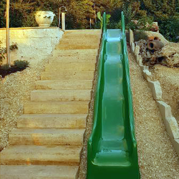 Wellenrutschbahn Beispiel Rutsche für den Garten