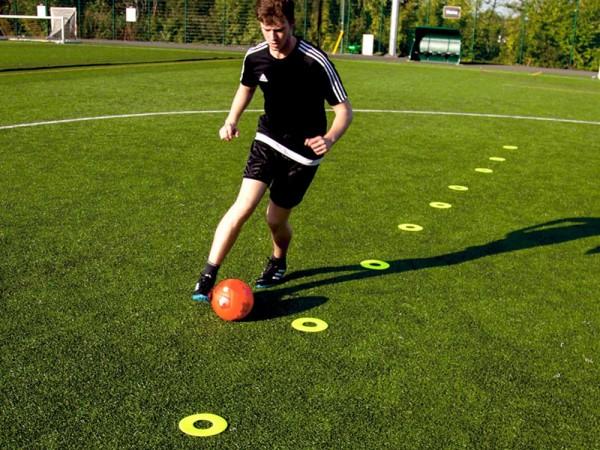 Bodenmarkierungen standard für Fussballtraining Ø 19cm