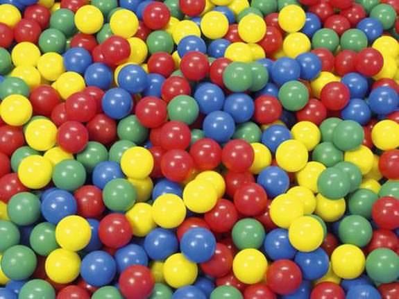 Bälle, 500 bunt gemischten Spielbällen