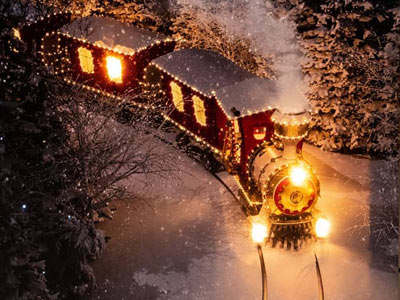 Bilder weihnachtlichen Sujets mit LED beleuchtet, Batteriebetrieb